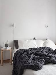 decordots cozy scandinavian style bedroom with super chunky dark wall colors suites decoration blue