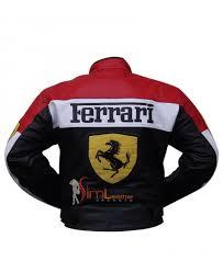 Ferrari motorcycle yellow jacket is comfortable this is perfect replica. Ferrari Racing Motorcycle Leather Biker Jacket