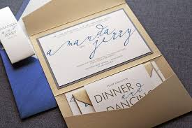blue and gold wedding invitation with pocket sang maestro Gold Wedding Invitation Ideas blue and gold wedding invitation with pocket gold wedding invitation ideas