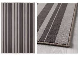 ikea ibsted rug low pile mat runner carpet grey 120x180cm anti slip rubber back