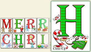 Merry Christmas Letter Banner Printable Pdf Thecannonball Org