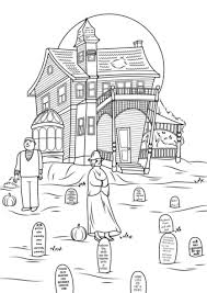 Small Picture Spooky Haunted House photo by Jon Seidman coloring page Free