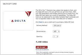 redeem skymiles for delta gift cards