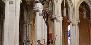 <b>Nude</b> activists chain themselves to main altar of Madrid cathedral ...