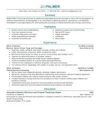 Sample Resume For Electronics Technician Supply Technician Resume Sample Supply Technician Resume Electronic