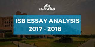 isb essays analysis for admission crackverbal isb essay analysis 2017 2018