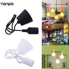 e27 e26 base ceiling lamp holder silicone chandelier light fixture hanging line