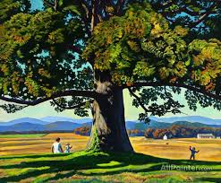 rockwell kent paintings for child under a tree virginia 1956