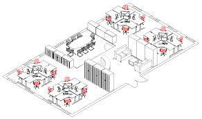 office furniture planning. Space Plan 2 (3D) Office Furniture Planning