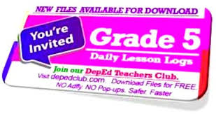 daily lesson log format 2nd quarter grade 5 daily lesson log 2018 dll deped club