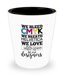 Designer Gifts Amazon Com Graphic Designer Gifts We Bleed Cmyk We