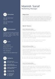 Sample Resume For Marketing Manager Free Sample Resume Of Marketing Manager Unique General Cv Doc Best 15