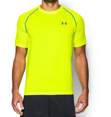 under armour 1228539. under armour men\u0027s ua tech short sleeve t-shirt high-vis yellow-00 1228539