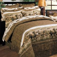 image of western comforters with horses