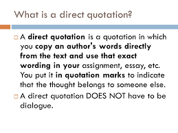 What Is A Quote Inspiration INTRODUCING DIRECT QUOTATIONS Background Notes What Is A Direct