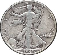 1942 Half Dollar Value Chart 1942 S Walking Liberty Half Dollar Value Cointrackers