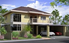 Two Story Modern House Plans  Houz BuzzTwo Storey Modern House Designs