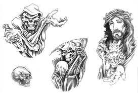 Motiv Tetování Smrtka 86