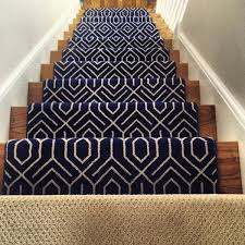 geometric stair runner hall carpet