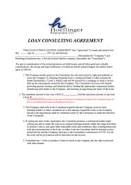 Loan Consulting Agreement Printable Pdf Download