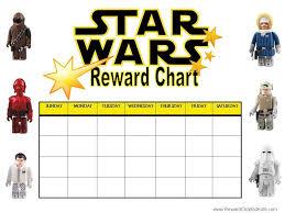 Star Wars Behavior Chart Printable Reward Charts Printable Reward Charts Reward