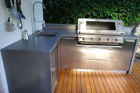 outdoor bench tops. outdoor kitchens with polished concrete benchtops \u0026 stainless steel doors modern-deck bench tops e