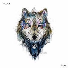 2725 руб 35 скидкаhxman Wolf временная татуировка наклейка для женщин ручная работа