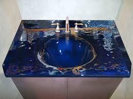 bathroom vanity tops sinks. custom glass bath vanity top with integrated sink bathroom tops sinks