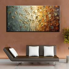 unframed handmade texture knife flower tree abstract modern wall art oil painting canvas home wall decor for room decoration in painting calligraphy from