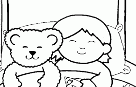 Small Picture Coloring Page Of Child Sleeping download free printable coloring