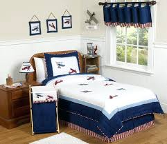 childrens bedding set red white blue vintage airplane plane full queen sized kids boy bedding set