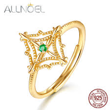 <b>ALLNOEL Solid 925 Sterling</b> Silver Rings For Women Natural ...
