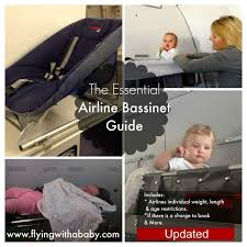 airplane bassinet airline bassinet chart