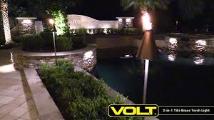 outdoor torch lighting. VOLT® 2-in-1 Tiki-Brass Torch Light | Landscape Lighting Outdoor I
