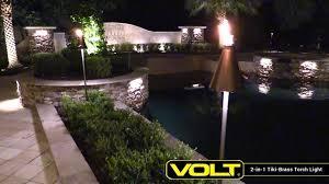 lighting tiki torches. VOLT® 2-in-1 Tiki-Brass Torch Light | Landscape Lighting Tiki Torches