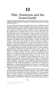 film feminism and the avant garde springer inside
