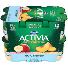 activia light probiotic blended nonfat yogurt strawberry banana peach