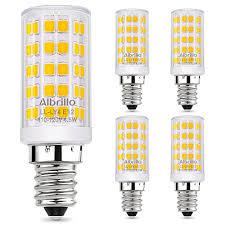 albrillo e12 led candelabra bulb chandelier light bulbs 60 watt equivalent 5w ceiling fan light bulbs warm white 3000k non dimmable 5 pack