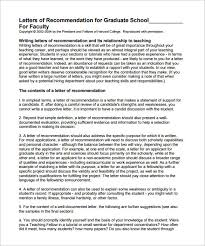 Berkeley Graduate Recommendation Letter Letter Of Recommendation For Graduate School 10 Free Word