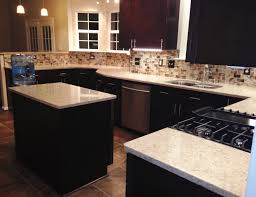 Ex Diskitchen Cabinets Kitchen Remodel Craftsman Java Maple Wood Cabinets Silestone