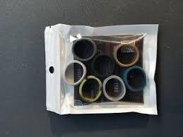 4 Pack Men Silicone Wedding Ring Sleek Design Rubber Band