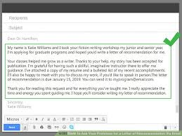How To Ask For A Letter Of Recommendation For College Via Email How To Ask Your Professor For A Letter Of Recommendation Via