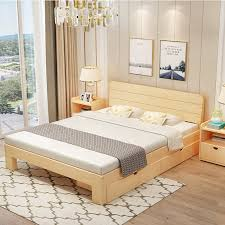 Double Bed Cheap New Floating Manufacturer Direct Sale Of Cheap Solid Wood