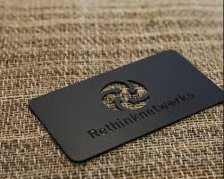 Steel Business Cards 100pcs Lot Custom Business Cards Black Metal Card Matte Finish