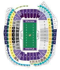 Bank Of America Field Seating Chart Mn Vikings Seating Chart Us Bank Arena Map Tcf Bank Stadium