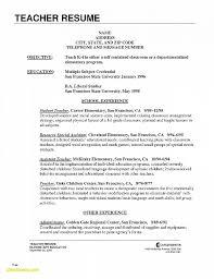 Resume Unique Sample Teacher Resume Templates Sample Teacher