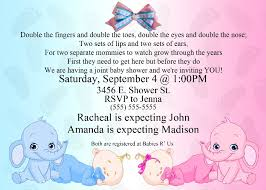 How To Make A Baby Shower Invitation On Microsoft Word Stunning Twins Baby Shower Invitations Wording Party XYZ