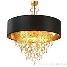round gold chandelier creative post modern led light luxurious aluminum