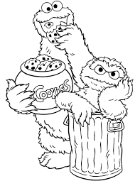 sesame street coloring pages. Interesting Pages Thanksgiving Coloring Pages Free Fish Throughout Sesame Street Coloring Pages M