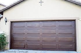 gaux wood garage door glaze makeover completed